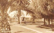 Vallejo California~City Park~Stone Wishing Well~Tennis Courts~1944 RPPC
