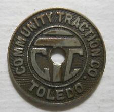 Community Traction Company (Toledo, Ohio) transit token - OH860M