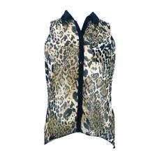 LIPSY Beige Leopard Print Sleeveless Shirt Size 10 (Q1)