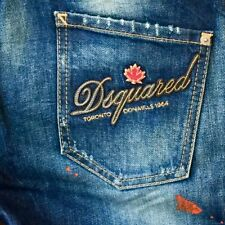 DSQUARED2 LOGO Jeans Gr. 44 it-piece, must have SOLD OUT worldwide NP 743€ *NEU*