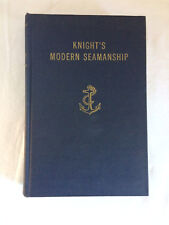 Vtg 1953 Knight's Modern Seamanship 12th ED Publ Van Nostrand Library copy Navy