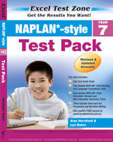 Excel Test Zone Naplan - Style Year 7 Test Pack