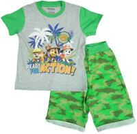 Boys T-Shirt Shorts Top Outfit Paw Patrol Jungle Ready Set 12 Months to 6 Years