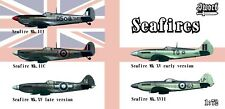 Sword 1/72 Model Kit 72129 Supermarine Seafires. 5 complete kits
