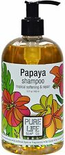 Papaya Shampoo, Pure Life Soap, 14.9 oz