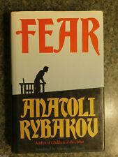 FEAR HARDCOVER 1993 RYBAKOV SUSPENSE FICTION ACTION ADVENTURE NOVEL HEROIC