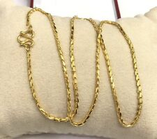 24k Solid Gold Diamond Cut Chain/ Necklace. 18 Inches. 9.08Grams