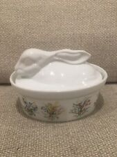 New listing Cordon Bleu Rabbit Casserole Dish With Flower Bouquets Microwave and Oven Safe