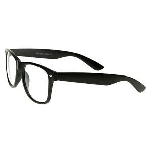 NEU ! Nerd Brille Streber Clear Brillen Hornbrille  Atzenbrille ohne Stärke
