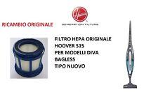 FILTRO HEPA ORIGINALE HOOVER S15 PER MODELLI DIVA BAGLESS, SENZA SACCO