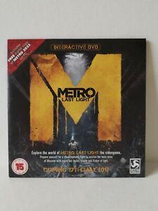Metro Last Light Special Promo Interactive DVD - RARE!