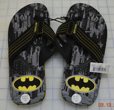 BATMAN FLIP-FLOPS The Dark Knight Superhero Sandals DC COMICS Size 7-8 Small