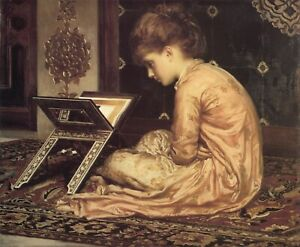 Study At a Reading Desk Frederic Leighton painting A0 A1 A2 A3 A4 photo poster