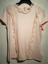 Ted Baker pink ruffle lace T-Shirt 4 UK12/14