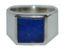 925 Sterling SILVER Lapis Lazuli Mens Ring, Gents Jewellery Sizes M, 6 to Z5, 15
