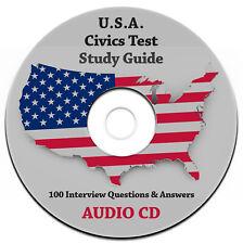 NEW 2020 US Civics Test Questions/Answers Study Guide Audio CD-SPANISH-ESPANOL