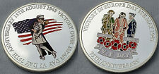 VE Day VJ Silver Coin Victory in Europe over Japan Germany End of World War II