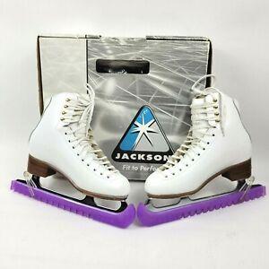 Jackson 2070 womens Girls Figure ice skates 6.5 B White Freestyle ladies