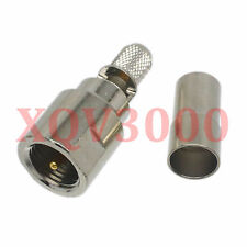 3pcs Connector FME male plug pin crimp for RG58 RG142 LMR195 RG400 RF COAXIAL