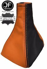 ORANGE & BLACK REAL LEATHER MANUAL GEAR GAITER FITS VAUXHALL OPEL VECTRA C 02-08