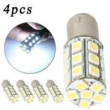 4* 1157 BAY15D P21/5W 27SMD 5050 LED Tail Light Bulb White Lamp 13W 12V Replace