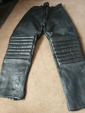 "J&S Ladies  Leather Motorbike  Motorcycle Trousers UK 14 32"" Waist"