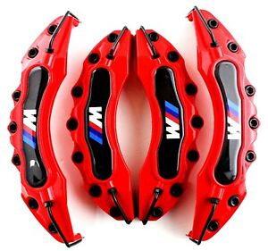 4 PCS Red BMW M Brake Caliper Cover Disc Racing Front Rear Power E90 E60 325 330