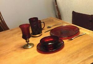 Cris D'arques Durand ANTIQUE RUBY Dinner Plate 938270