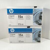 HP LaserJet Black Toner Cartridge 15A SEALED C7115A (QTY:2)