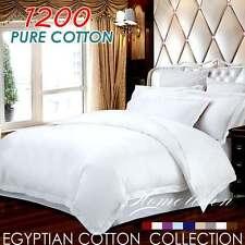 >>Queen Size<< 1200TC PURE COTTON Quilt/Doona/Duvet Cover Set - White
