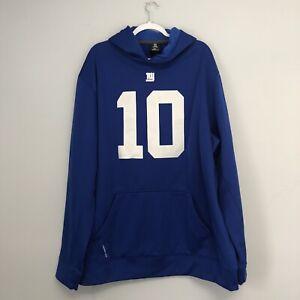 New York Giants Eli Manning Blue Therma-Fit Hoodie Sweatshirt Size Men's 3XL