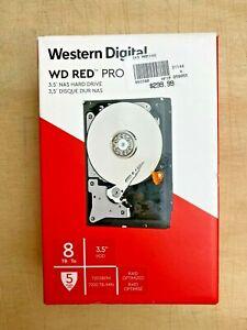"WD Red Pro 8TB 3.5"" NAS Hard Drive - HDD - Internal - 7200 RPM - Rapid Optimized"