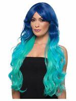 Ladies Mermaid Sea Wig Fancy Dress Costume Ariel Wavy Extra Long Womens Fashion