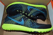 New Nike Mens Flex Fury Run Running Shoes 705298-013 sz 11 Black Blue Volt