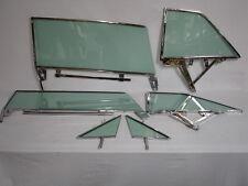 1963 1964 CHEVROLET PONTIAC 2DR HARDTOP VENT DOOR QUARTER GLASS IN FRAMES GREEN