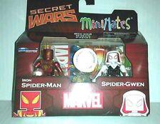SPIDER-GWEN + IRON SPIDER-MAN figure MARVEL MINIMATES tru SECRET WARS wave 21 19