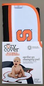 "COZY COVER 'Cuse Syracuse University Orange On-The-Go Changing Pad 20 x 23"" SU"