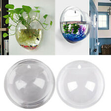 BL_ CO_ Wall Aquarium Hydroponic Acrylic Plant Vase Clear Hanging Fish Bowl Deco