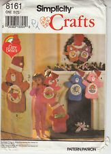 Care Bears Christmas Stockings Wreath Simplicity Sewing Pattern 8161 Uncut