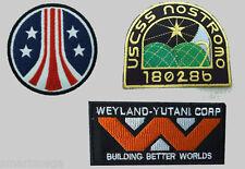 Completamente Nuevo Alien / / 3 Weyland Nostromo Marina Parche Juego de 3