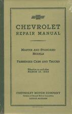 1933  CHEVROLET PASSENGER CAR/TRUCK SHOP MANUAL