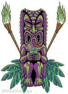 Drinking Tiki Sticker Decal Poster Art Almera MA10