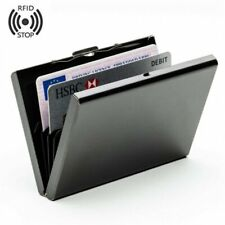 1/2pcs Black Hard Metal Wallet Stainless Steel Credit Card Protector Case USA