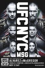 CONOR MCGREGOR ALVAREZ 24x36 NEW POSTER UFC 205 NYC MSG MMA IRELAND CHAMPIONSHIP
