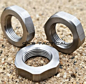 Ruger 10/22 Stainless Steel Muzzle Brake Compensator Jam Nut Washers 1022 1/2-28
