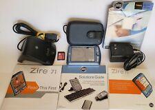 Palm Zire 71 Blue/Silver Handheld Pda Pilot Digital Organizer Bundle Completed+