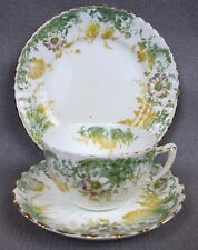 Antique Staffordshire TEA TRIO: cup saucer plate. Possibly Wileman Shelley Foley