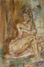 Jean-Paul ULYSSE (1925-2011) HsT Nu 1973 Jeune Peinture Fauve Grand Prix de Rome