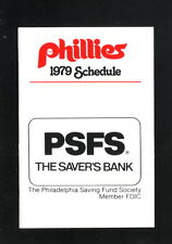 Philadelphia Phillies--1979 Pocket Schedule--Saver's Bank