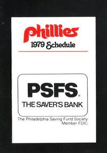 Philadelphia Phillies--1979 Pocket Schedule--Saver's Bank